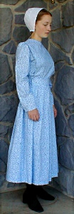 plain dress Mennonite cape dress